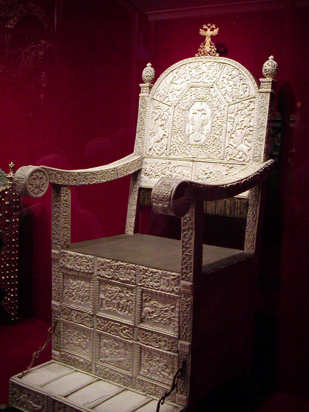 The Ivory Throne of Ivan the Terrible