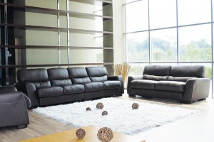 Sofa arrangement speaks volumes about a space
