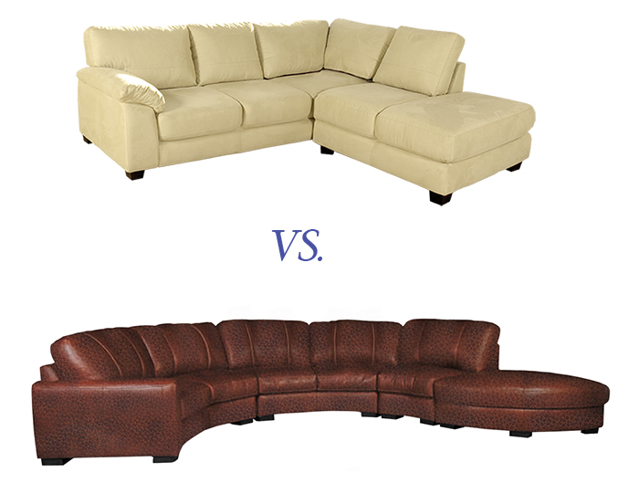 Contempo Sofa Products Are Upholstered In Either Leather Or Microfiber How Will You Know Which